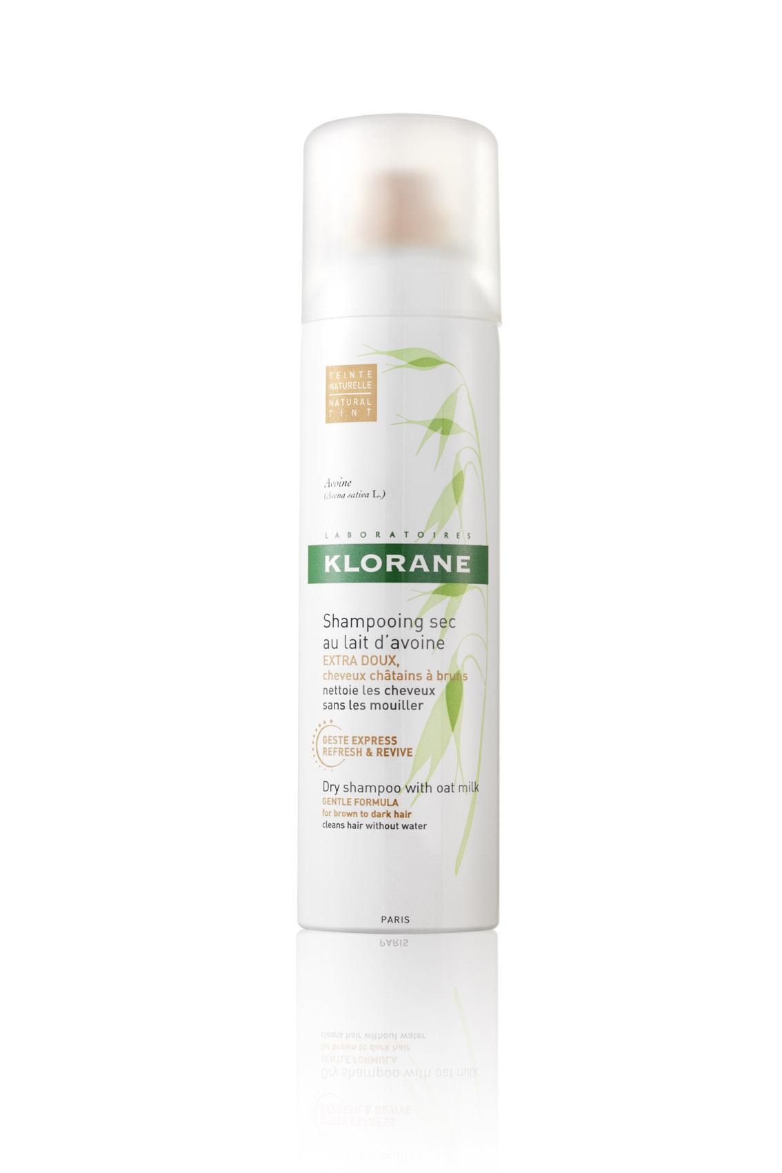 KLORANE Suchý šampon s oves.mlék.-hnědé vlasy 150 ml