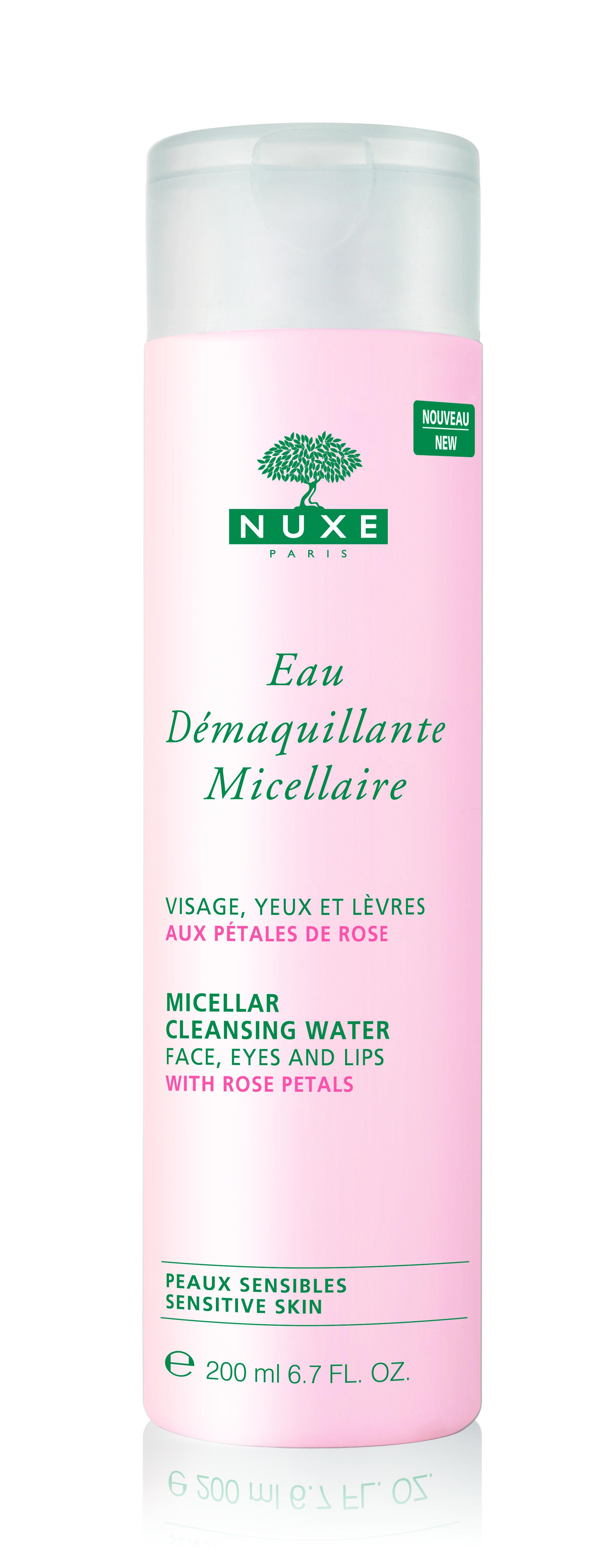 NUXE Odličovací micelární voda na tvář oči a rty 200 ml