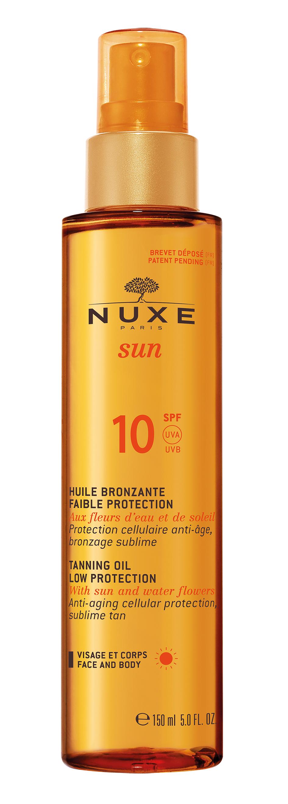 Nuxe Sun Bronzující opalovací olej na obličej a tělo SPF 10 150 ml