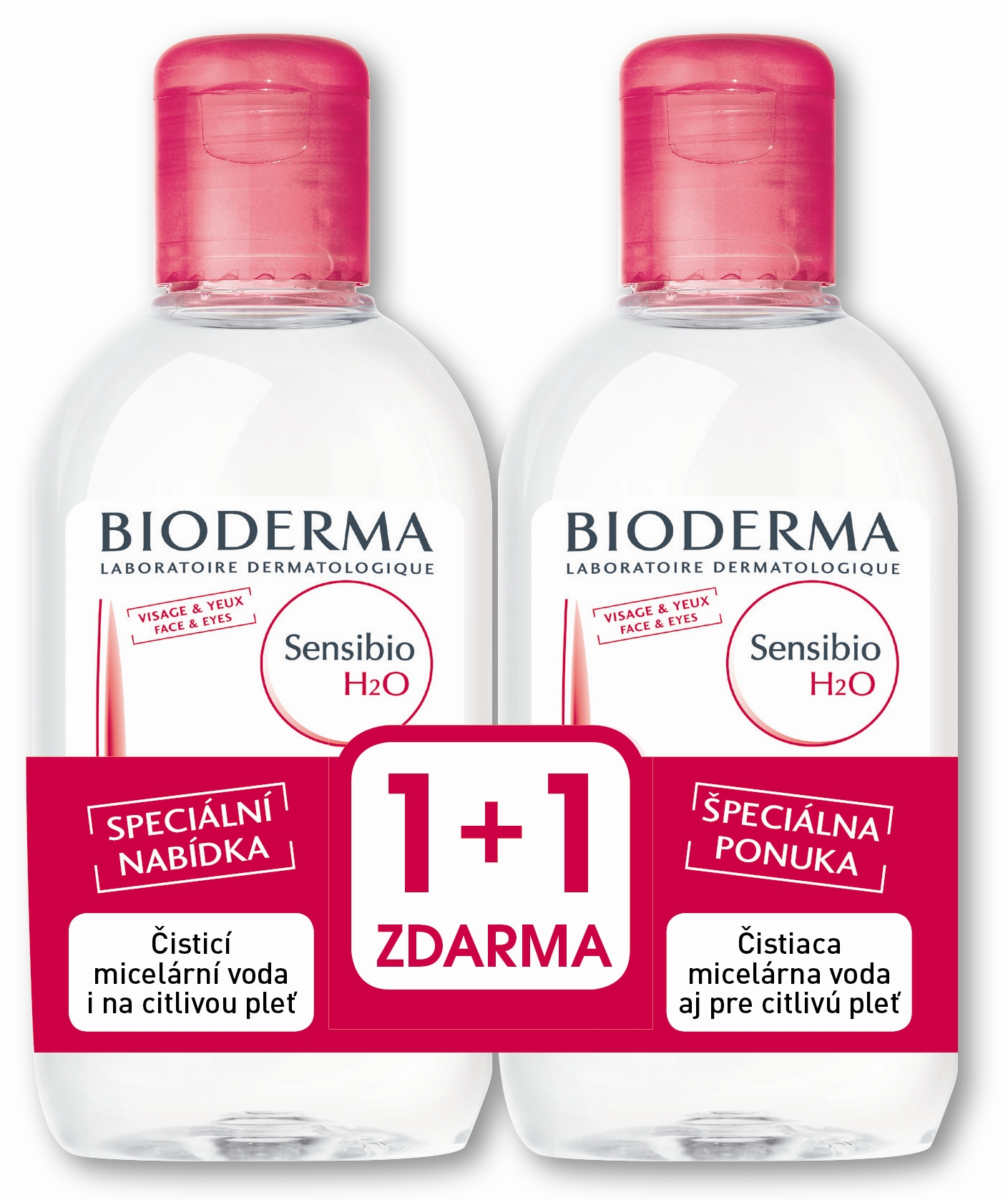 BIODERMA Sensibio H2O 250 ml 1 plus 1 ZDARMA