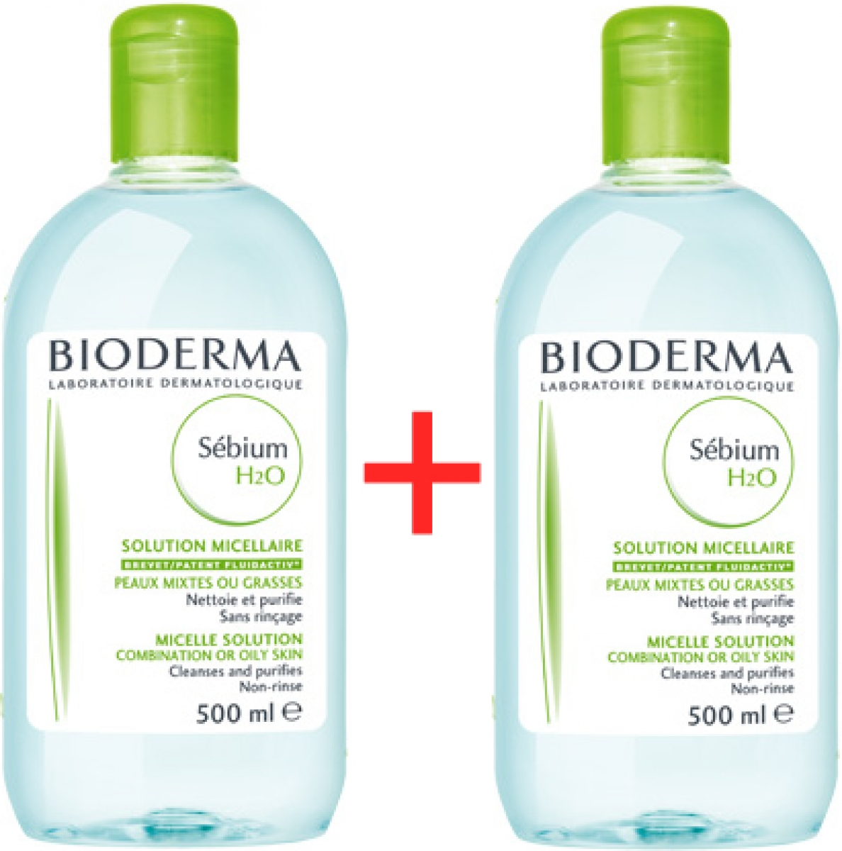BIODERMA Sebium H2O 500 ml 1 plus 1 ZDARMA