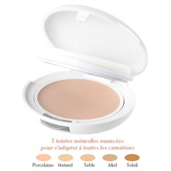 AVENE Couvrance Kompaktní make up naturel (odstín 2) - Creme de Teint Compacte 9,5g - pudrový vzhled