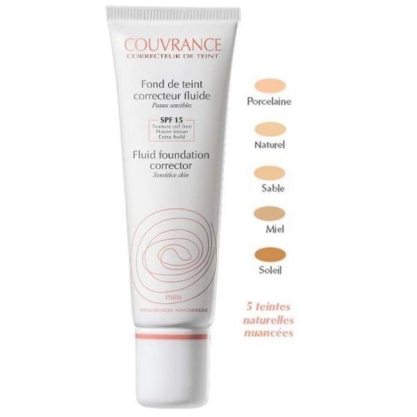 AVENE Couvrance Tekutý krycí make up naturel (odstín 2) - Fond de Teint Correcteur Fluide