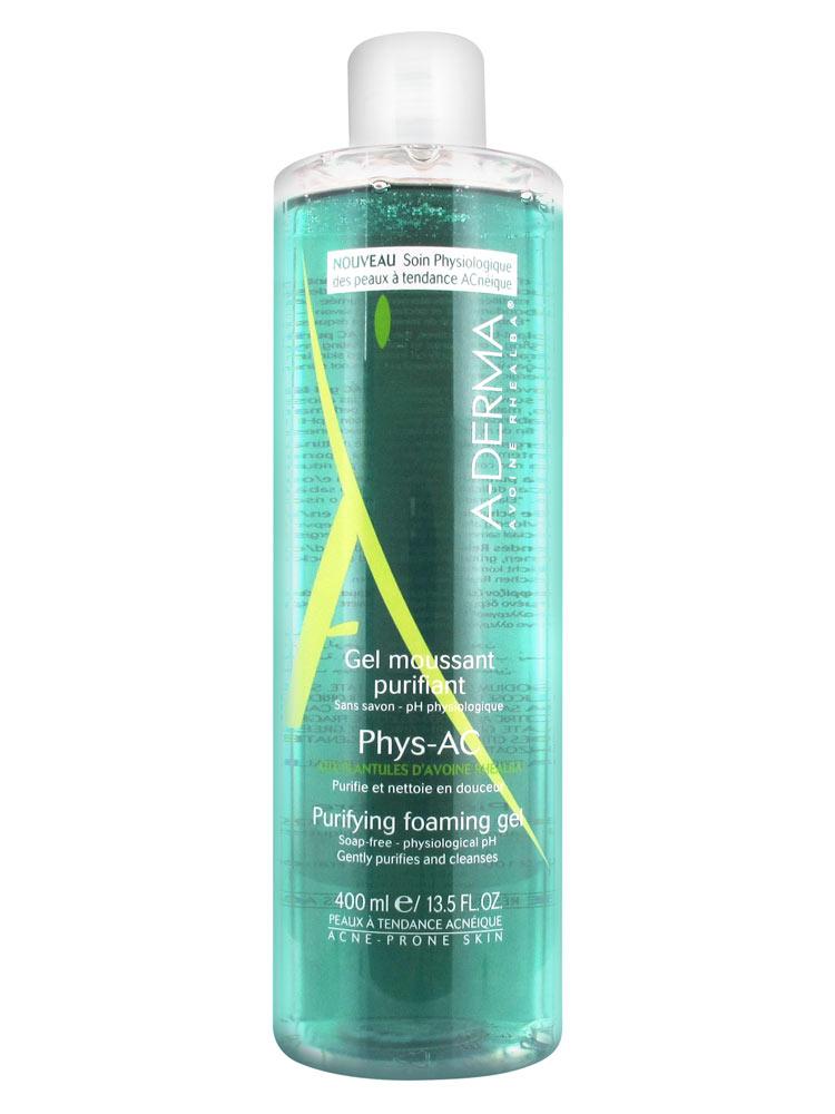 A-Derma Phys-AC čisticí pěnivý gel pro problematickou pleť, akné 200 ml