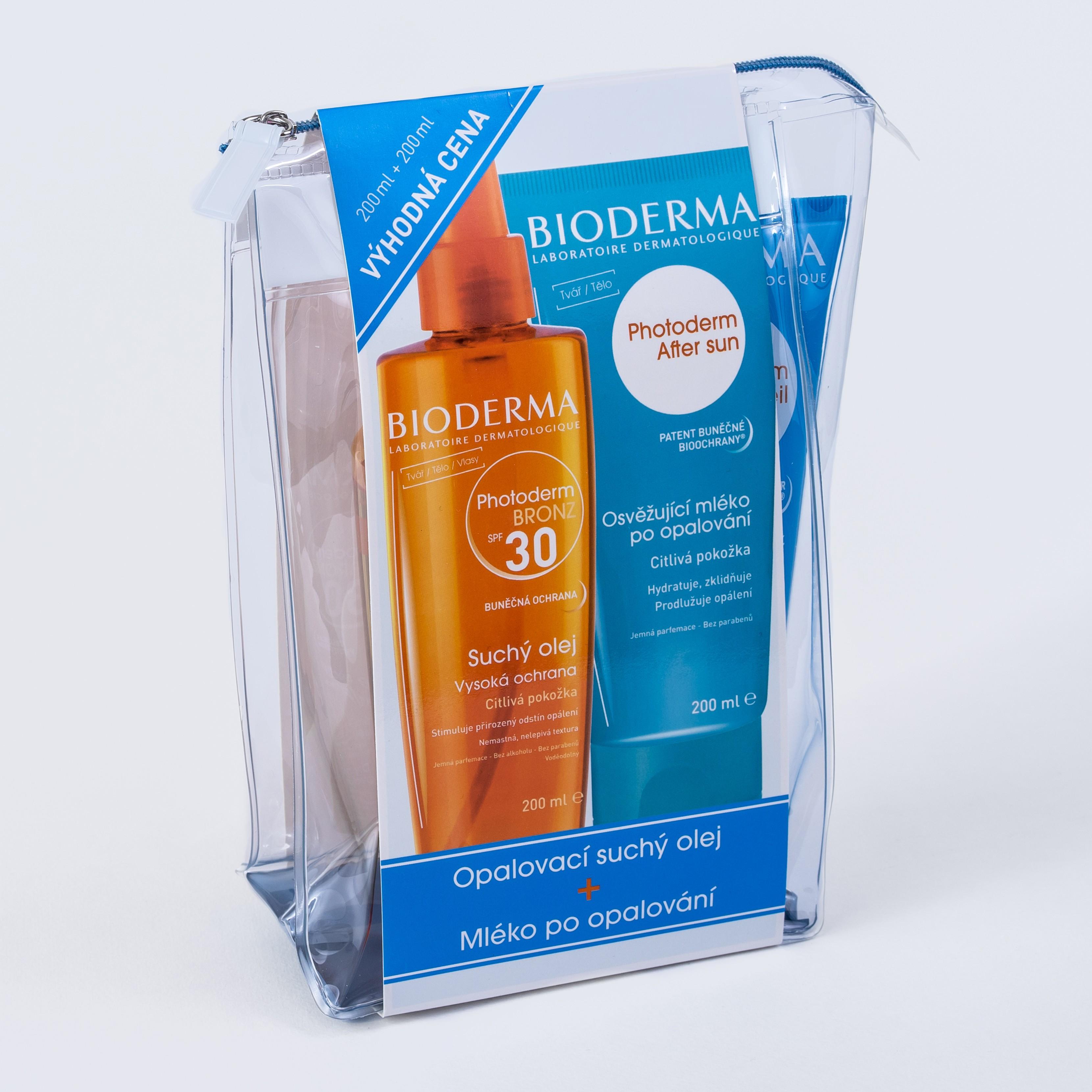 BIODERMA Photoderm Photoderm SPF30 Bronz olej 200ml plus ZDARMA Photoderm After sun 200ml