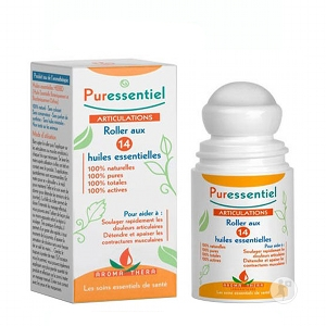 PURESSENTIEL Roll-on na bolavé svaly a klouby 14 esenciálních olejů 75 ml