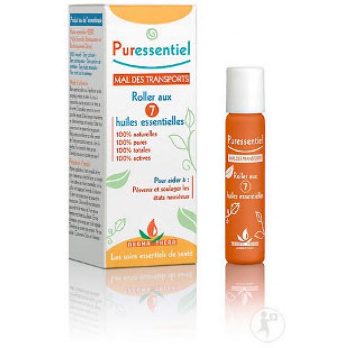 PURESSENTIEL Roll-on proti nevolnosti při cestování 7 esenciálních olejů 5 ml