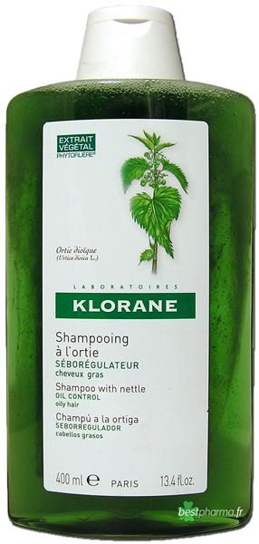 KLORANE Šampon z kopřivy na mastné vlasy 400 ml