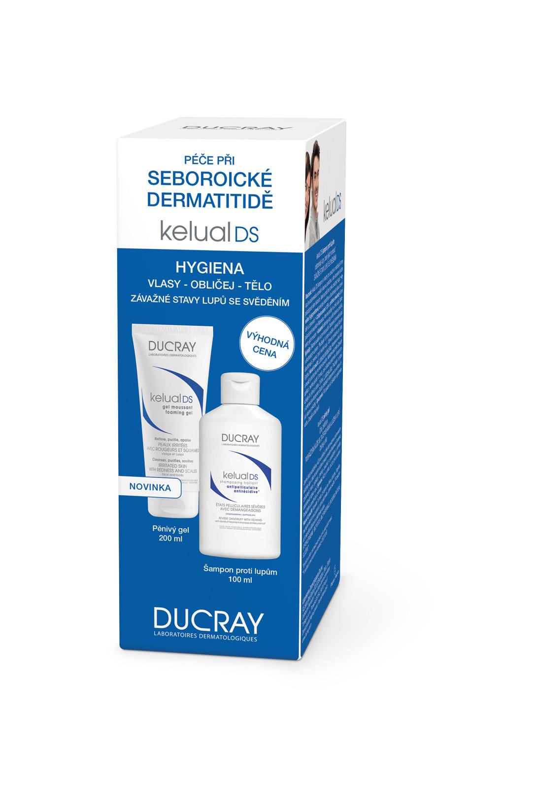 DUCRAY PROMO Kelual DS šampon plus Kelual DS gel