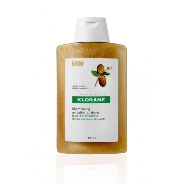 KLORANE Šampon datle na suché poškozené vlasy 400ml