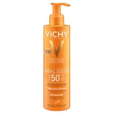VICHY Idéal Soleil SPF 50 opalovací mléko odpuzující písek 200 ml