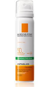 La Roche-Posay Anthelios SPF 50 Osvěžující sprej na obličej PROTI LESKU PLETI 75 ml