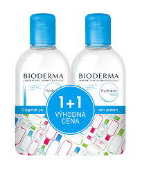 Bioderma Hydrabio H2O 500 ml 1 plus 1 zdarma