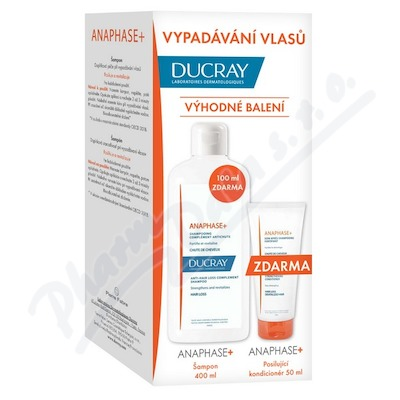 Ducray Anaphase plus šampon 400 ml plus kondicioner 50 ml ZDARMA