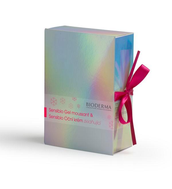 BIODERMA Sensibio vánoční gel moussant 200ml plus Oční 15ml