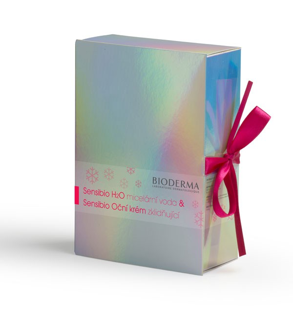 BIODERMA Sensibio vánoční H2O 250ml plus Sensibio oční 15ml