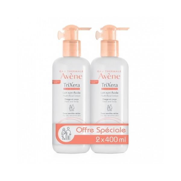 AVENE DUO TriXera Nutri-fluid mléko 1 plus 1 400 ml plus 400 ml