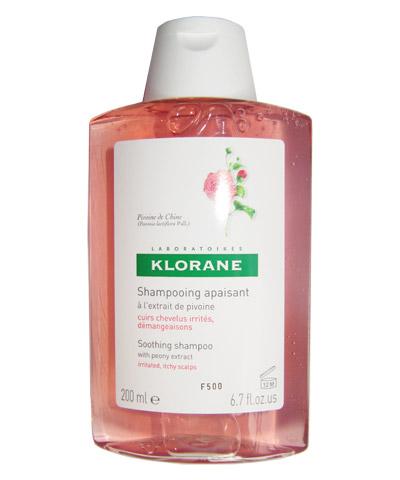 Klorane Pivoine Šampon pro podrážděnou vlasovou pokožku a lupy 200 ml