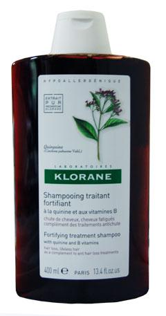 KLORANE Quinine Chinínový šampon 400 ml - Pro unavené a nadměrně vypadávající vlasy