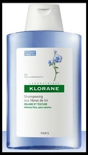 KLORANE Šampon s lněnými vlákny 200 ml na objem a tvar
