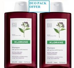 KlORANE šampon Quinine 400 ml plus 400 ml DUOPACK