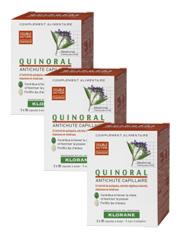 KLORANE Quinoral Trio - Doplněk stravy při vypadávání vlasů
