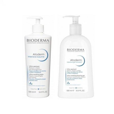BIODERMA Atoderm Intens. baume 500 ml+ gel moussant 500 ml