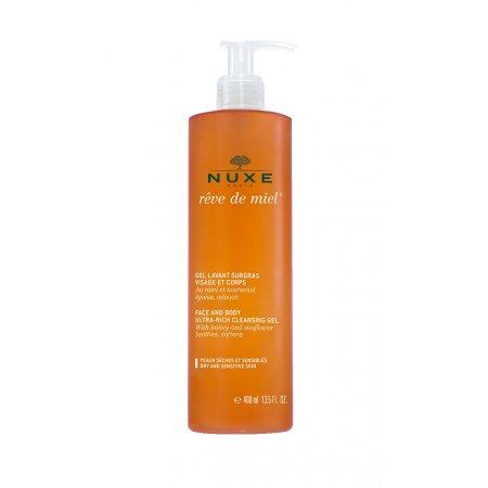 NUXE Reve de Miel Zvláčňující sprchový gel na obličej a tělo 400 ml