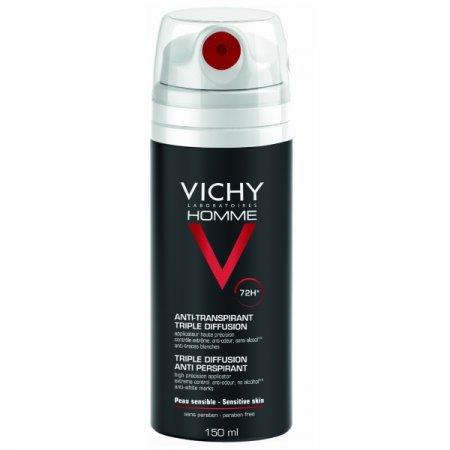 VICHY HOMME Deo sprej 72 hodin pro extrémní kontrolu 150 ml