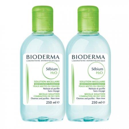 BIODERMA Sebium H2O 250 ml 1+1ZDARMA