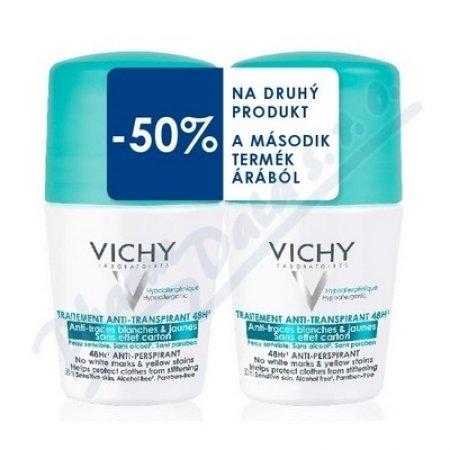 VICHY Deodorant DUO anti-traces proti žlutým skvrnám roll-on proti nadměrnému pocení DUO 2x50ml