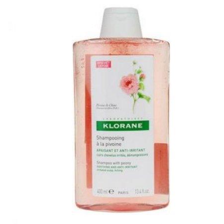 KLORANE Šampon pivoine pro podrážděnou vlasovou pokožku 400 ml