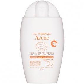 Avène Sun Minéral ochranný fluid bez chemických filtrů SPF 50+ 40 ml