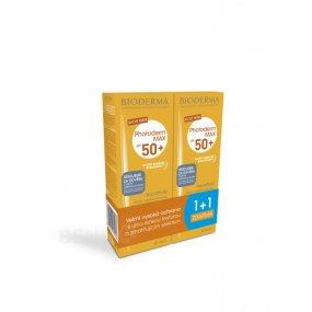 Bioderma Photoderm Max Aquafluid SPF50 opalovací suchý krém pro všechny typy pleti 2 x 40 ml dárková sada