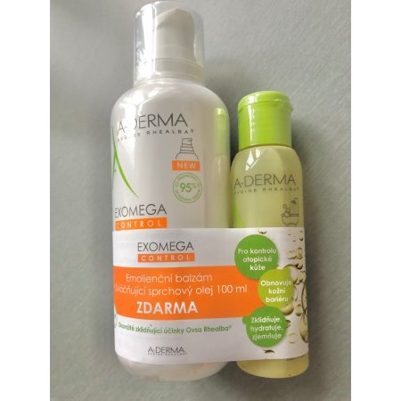A-DERMA EXOMEGA CONTROL balzám 400 ml+ Srchový olej 100 ml ZDARMA