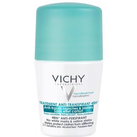 Vichy Deodorant antiperspirant roll-on proti bílým a žlutým skvrnám 50 ml