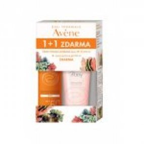 AVENE Promo Sun 1+1 ZDARMA Sprej SPF 50 200 ml+jemný sprchový gel 200 ml