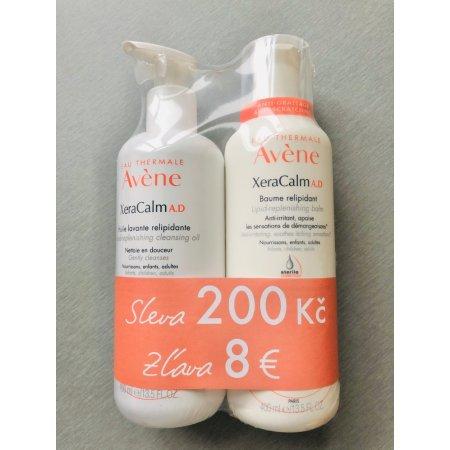 AVENE XeraCalm A.D relipidační balzám 400 ml+mycí olej 400 ml