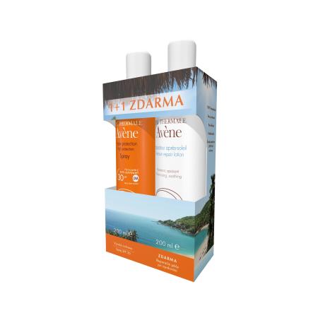 AVENE Promo SUN sprej SPF 30 + mléko po opalování 200 ml