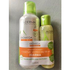 A-DERMA EXOMEGA CONTROL krém 400 ml +sprchový olej 100 ml ZDARMA