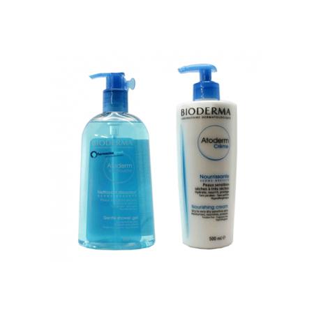 Bioderma Atoderm Krém 500 ml+Sprchový gel 500 ml