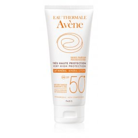 Avène Sun Minéral ochranné mléko bez chemických filtrů a parfemace SPF 50+ 100 ml