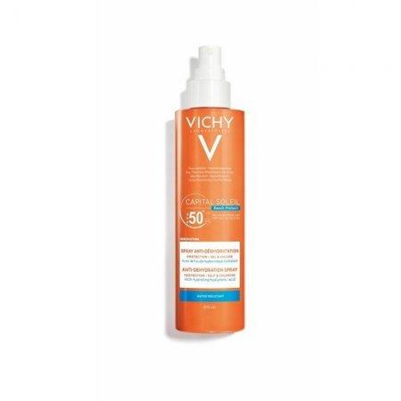 VICHY CAPITAL SOLEIl Beach Protect SPF 50+ sprej proti dehydrataci 200 ml