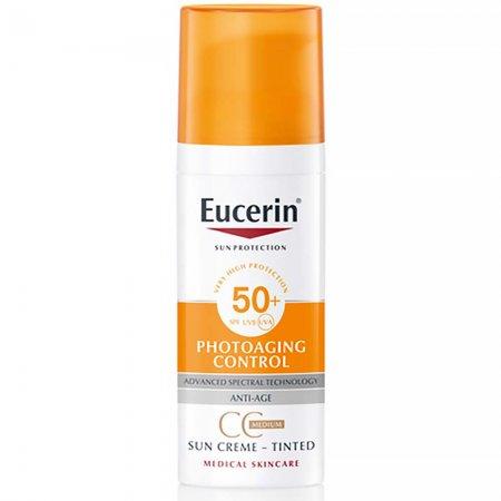 Eucerin CC krém na obličej Photoaging Control SPF 50+ středně tmavý