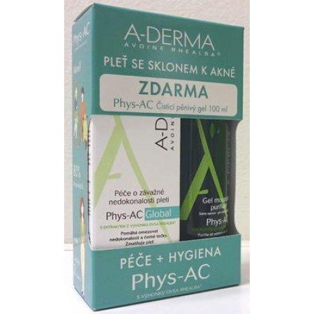 A-DERMA Phys-AC Global 40ml +čistící pěnivý gel 100ml ZDARMA