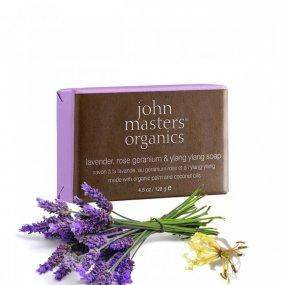 John Masters organics Hydratační mýdlo - levandule, geránie a ylang ylang 128 g