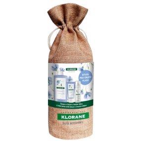 KLORANE Xmass set Len šampon 400 ml + balzám 50 ml + suchý šampon oves 50ml