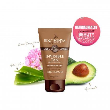 Eco by Sonya přírodní samoopalovací krém pro střední opálení | Invisible Tan 150 ml