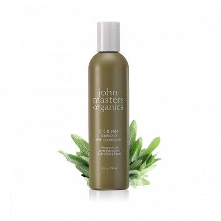 John Masters organics Šampon a kondicionér 2v1 se zinkem a šalvějí 236 ml