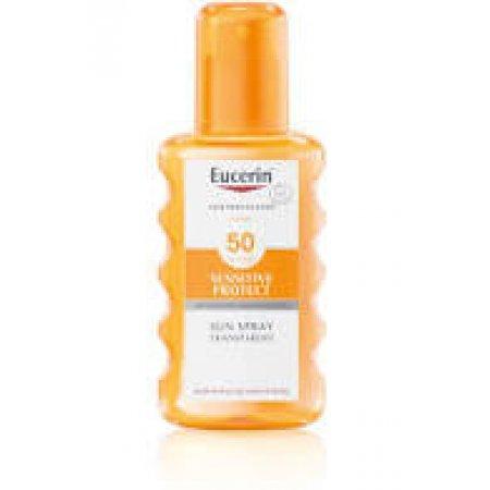 Eucerin SENSITIVE PROTECT SPF 50 transparentní sprej 200 ml